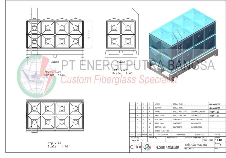 desain tangki panel