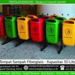tong sampah fiber