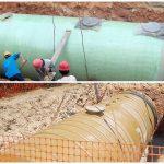 fiberglass tank underground