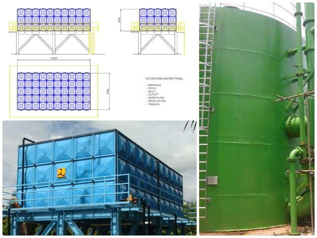 FRP Water Tank Fiberglass Produk Terbaik dan Berkualitas