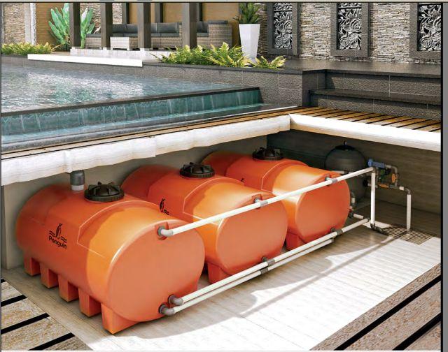 tangki air horizontal